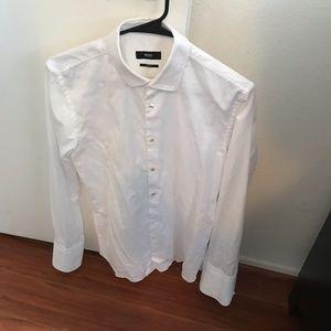 Hugo Boss White Formal Dress shirt white